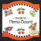 Mary Engelbreit Magnetic Memo Board with Flower Magnets NEW
