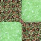 Unique color stash  4 inch Cotton Fabric Craft Quilt Squares Blocks wz1