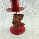 Holiday Traditions Metal Teddy Bear Candle Holder tblwh1