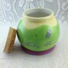 Baby Fund Cork Top Ceramic Jar Bank Perfect Gift Colorful Bank Adorable tblds1