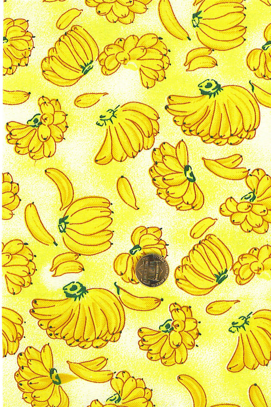 "I Spy 6 by 9 inch Banana Bunches and Singles Novelty Fabric 6"" x 9"" Quilt Square"