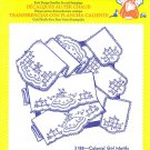 Aunt Martha's Iron on Transfer Colonial Girls Motifs 3188 Embroidery Sewing ZDS1