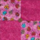 "Ladybug Beetle Fushia  4"" 4 inch Fabric Multi-Color Cotton Blocks ZC1"