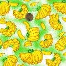 """I Spy 6 by 9 inch Green Banana Bananas Bunch of Banana Novelty Fabric 6"""" x 9"""""""
