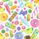 """I Spy 6 by 9 inch Wax Candy Sucker Taffy Gum Novelty Fabric 6"""" x 9"""" Quilt Square"""
