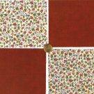 Petite Tiny Calico Flowers Floral Cotton Craft Quilt Fabric Squares KL1