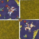 Cowgirls Getting Dirty Cotton Fabric Squares Blocks ZS1