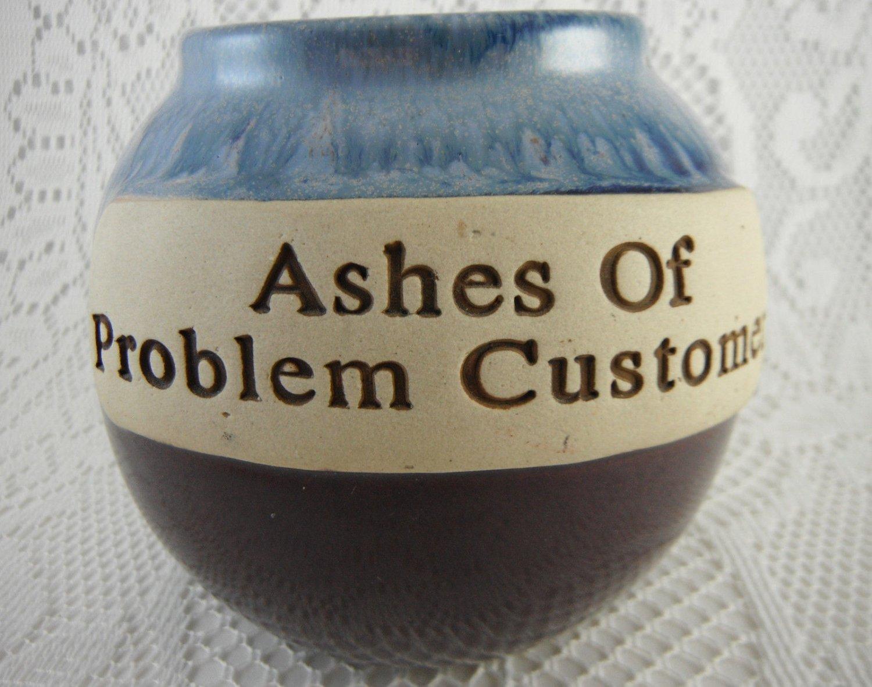 Ashes of Problem Customers Ceramic Cork Fund Jar Bank Perfect  tbljr1