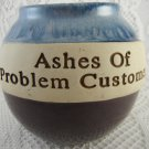 Ashes of Problem Customers Ceramic Cork Fund Jar Bank Perfect  tbljr1