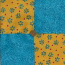 A Hint of Dew Blue Flowers Novelty Fabric Quilt Squares 100% Cotton zL1