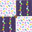 Multi Colored Jelly Beans and Support Ribbons  Fabric 100% Cotton Squares   zw1