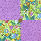 Whimsy Purple  100% Cotton Fabric Squares Quilt Blocks Crafting  RBX2
