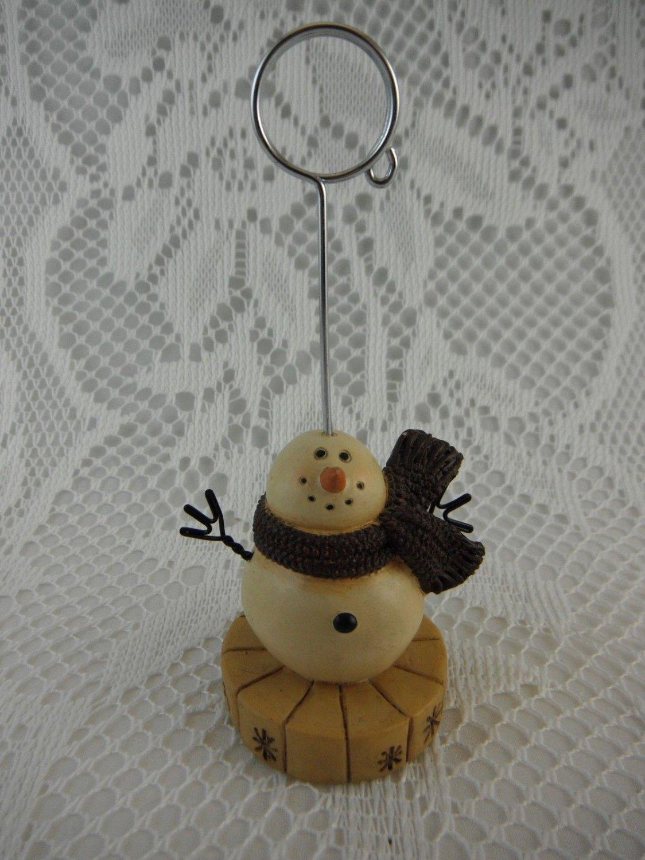 Resin Snowman Telephone Message or Christmas Card Holder tbljr2