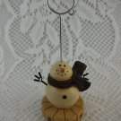Resin Snowman Telephone Message or Christmas Card Holder tbljr2