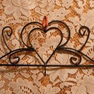Cast Iron One Space Holder Heart Shapes Black Holds a Calendar or Keys tblct1