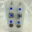 Handmade French Hook Style Earrings - Fashion Jewelry Long Blue Dangle TBLPR2