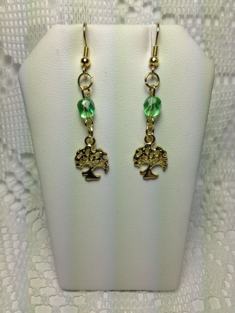 Handmade French Hook Style Earrings - Fashion Jewelry Tree of Life  tblpr5