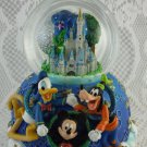 Disney Mickey Mouse Donald Duck and Pluto Snow Globe Music Box 2000 Cute tblbs2