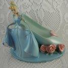 Resin Disney Cinderella and Shoe Cell Phone or Trinket Holder Statue tblwk1