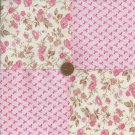 4 inch Breast Cancer Assort Cotton Fabric Quilt Squares zg1