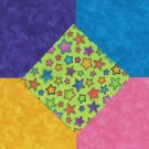 25 4 inch Moda Bright Stars Green  Fabric Craft Squares  100% Cotton osr3