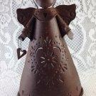 Vintage Metal Angel Candle Holder tblxs3