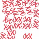 OXOX Kisses and Hugs 32pc RED High Gloss Paper Punches Cut Outs Embellishments