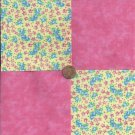 Tossed Flowers Cotton Cotton Fabric Quilt Squares Charms  MY8
