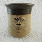Face Heavy Duty Ceramic Mug Bewildered Gaze Dark Brown Tan tblxs3