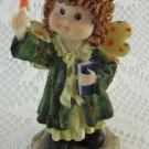 Resin Adorable Angel With Candle Figurine Tiny Sweet Littlest Statue tbleu1