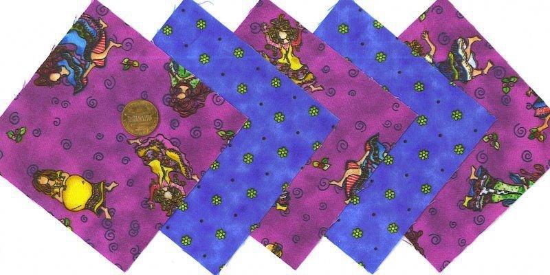 20 4 inch Wild Wacky Women 100% Cotton Fabric Quilt Craft Squares OSR5