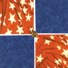 "Patriotic Star Red White Blue 4"" 4 inch Fabric Quilt Squares LW1"