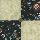 4 inch Flowers that Live 100% Cotton Fabric Quilt Craft Squares zd1