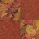 Leaves Autumn Rustic 4 inch Fabric Craft Quilt Squares zb1