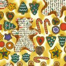 "I Spy 6 by 9 inch Gingerbread Recipe Cookies Christmas  Novelty Fabric 6"" x 9"""