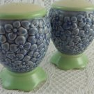 Pfaltzgraff Salt and Pepper Shakers Ceramic Blue Flowers Bouquet Kitchen tblak1