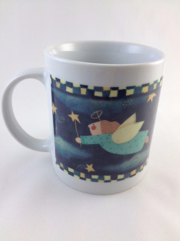 Giftco Ceramic Flying Angel Coffee Mug Night Sky Stars A Special Treasure tblvl1