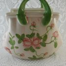 Ceramic Purse Shabby Rose Brightly Flowered Bouquet Trinket Holder tbljr2