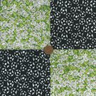 4 inch Black Eyed Daisies Cotton Fabric  Quilt Craft Squares Kit  gd1
