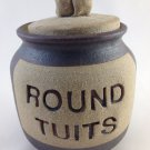 Pottery Round Tuits Fund Jar Bank Change Money Savings Trinkets Container tblvl1