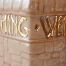 Ceramic Grant A Wish To Me Oh Wishing Well Vase or Plant Holder tblza1