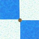Tiny Blue Calico Flowers Cotton Craft Quilt Fabric Squares kl1