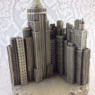 Skyline Bookend Big City View Skyscrapers Individual Bookend Grey Color tblpo1