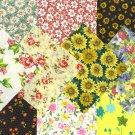 I Spy Flower Floral  Assortment  Fabric Novelty Multi Square FA Set 1A