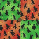 Halloween Trick or Treaters KIDS Costumes Fabric  Squares Quilt sz1