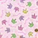 Princess Diva Crown Crowns Multi Color Fabric Traditions  Cotton Fabric Yardage
