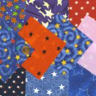 I Spy Star Star Stars Assortment Cotton Craft Quilt Fabric Squares kl1