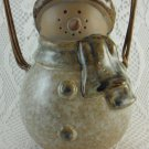 Decorative Table Top Snowman Blue and Brown Christmas Season Figurine tblak1