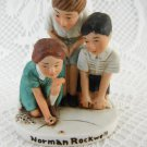 Norman Rockwell Collectible Children Playing Jacks Statue 1939 Grossman tblwk1
