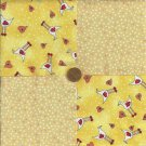 Chicken Pox Heart Craft Cotton Fabric Crafting  Quilt Squares  za1